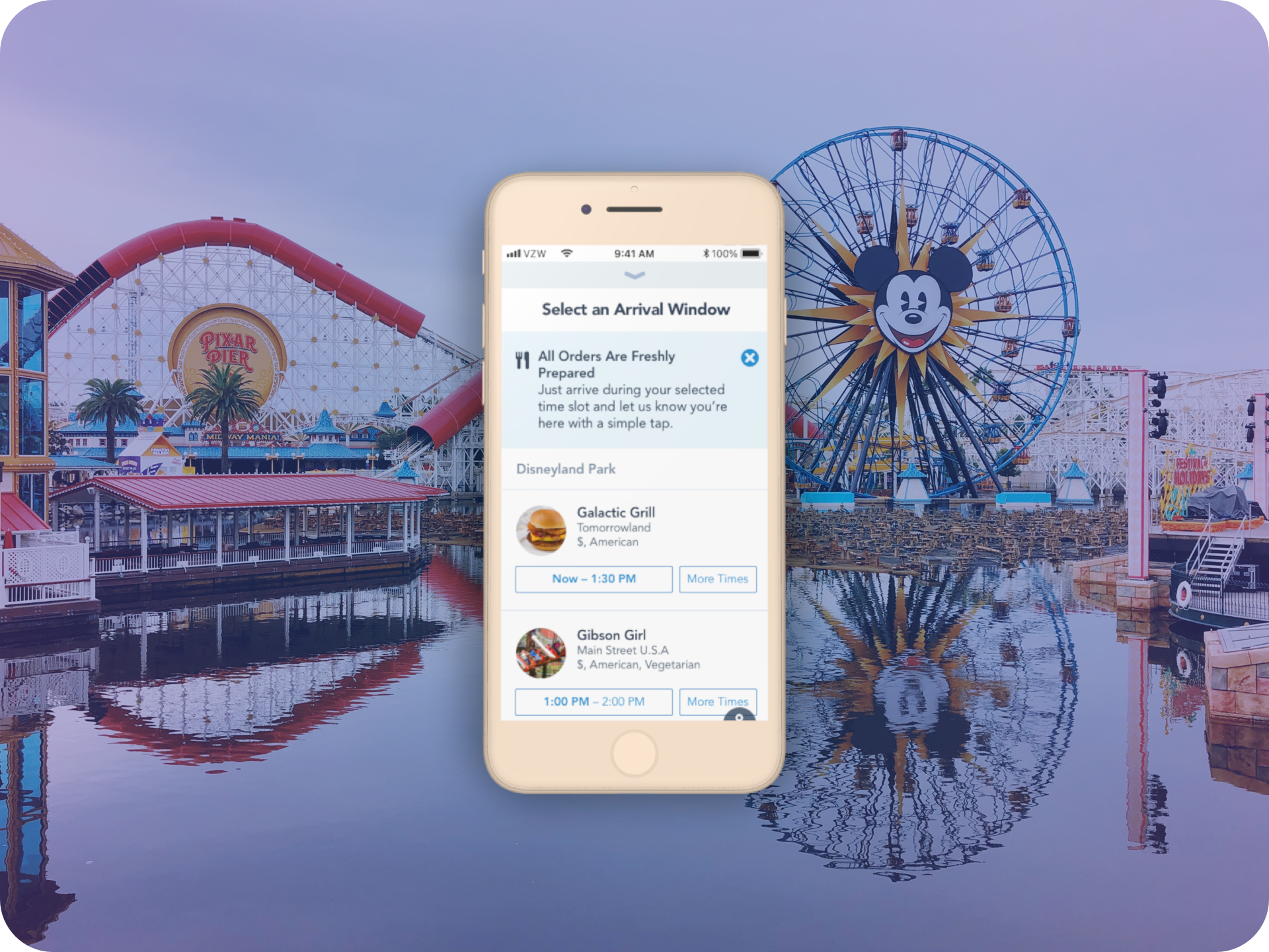 Disney Parks Mobile Order Launch